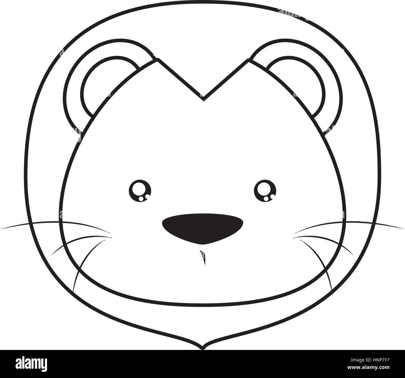 Uncategorized Lion Drawing Face lion drawing face stock vector art illustration image face