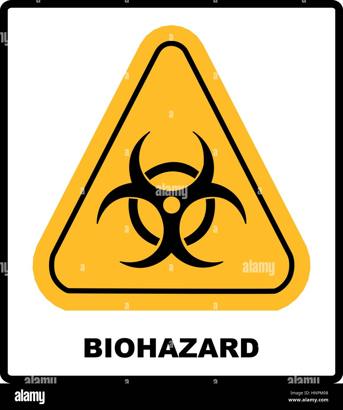 Biohazard symbol sign of biological threat alert vector sign in biohazard symbol sign of biological threat alert vector sign in yellow triangle banner with text biocorpaavc Image collections