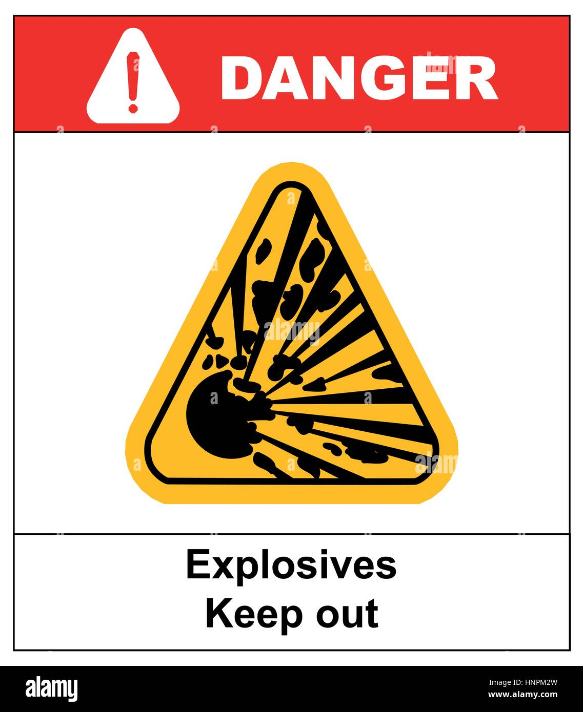 Symbol of the explosion in the yellow triangle danger symbol of the explosion in the yellow triangle danger informational banner with text explosives keep out buycottarizona