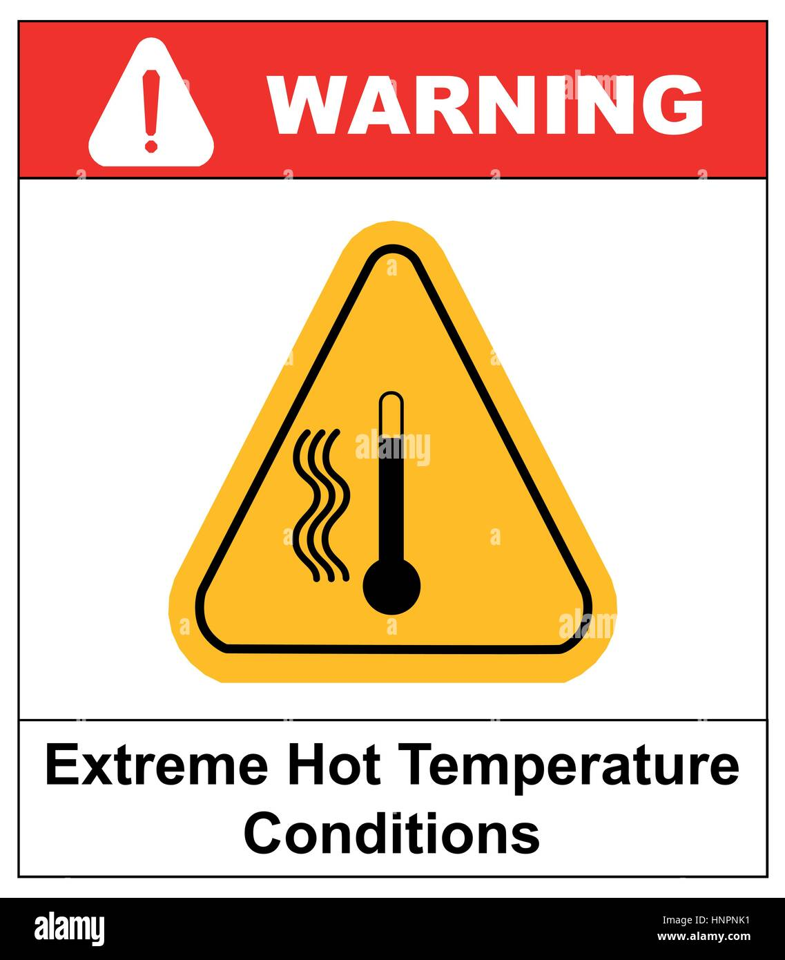 Vector high temperature warning sign extreme hot temperature vector high temperature warning sign extreme hot temperature conditions danger symbol and sticker for public places buycottarizona Image collections