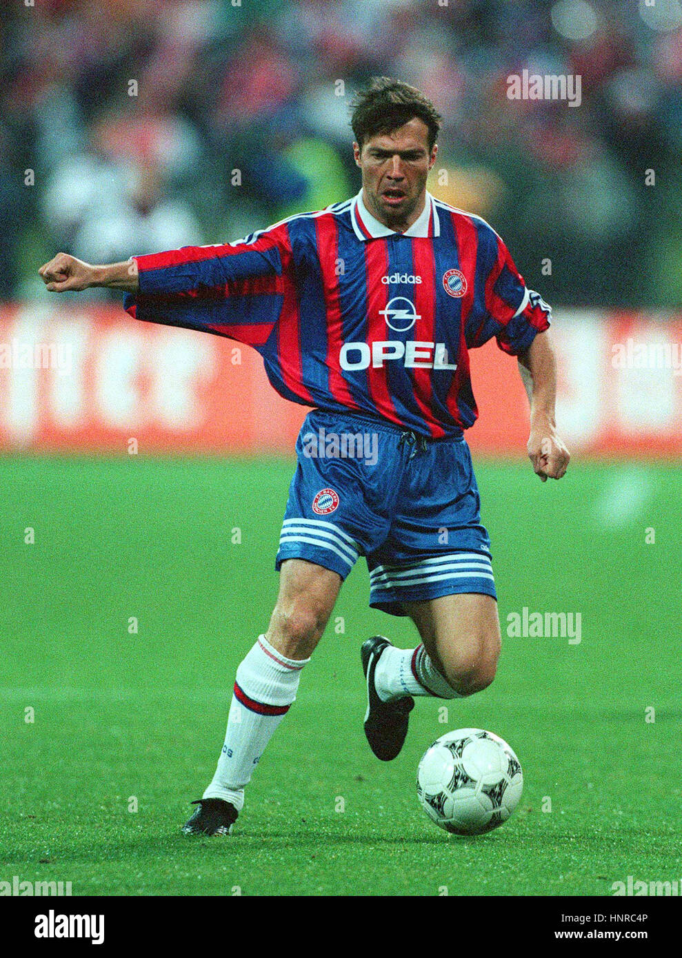 LOTHAR MATTHAUS BAYERN MUNCHEN FC 23 October 1996 Stock