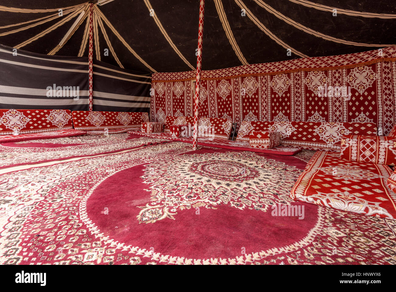 Arabic Bedouin tent interior in Al Ain United Arab Emirates & Arabic Bedouin tent interior in Al Ain United Arab Emirates Stock ...
