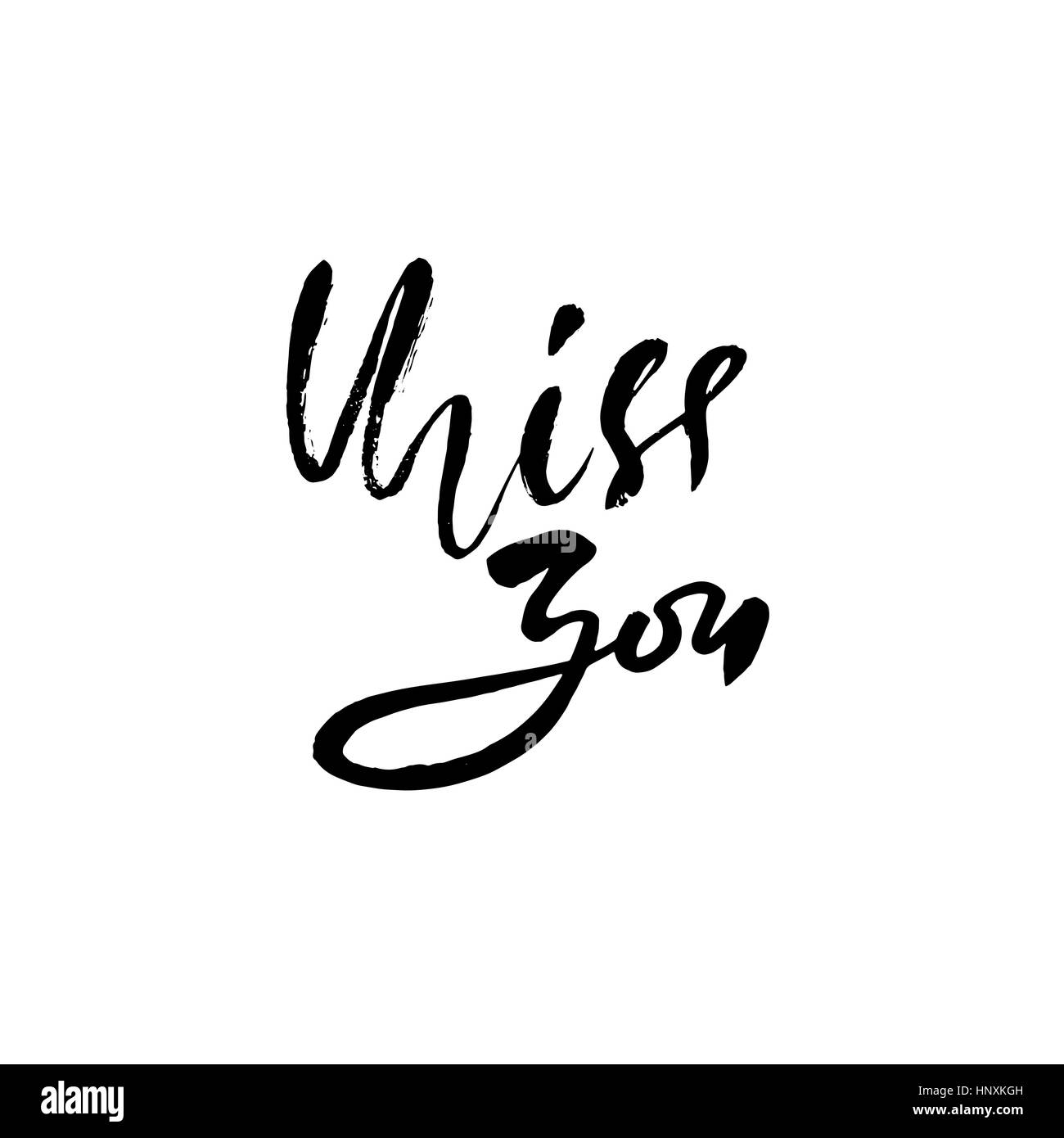 Miss you inscription greeting card with calligraphy hand drawn miss you inscription greeting card with calligraphy hand drawn lettering design vector typography kristyandbryce Image collections