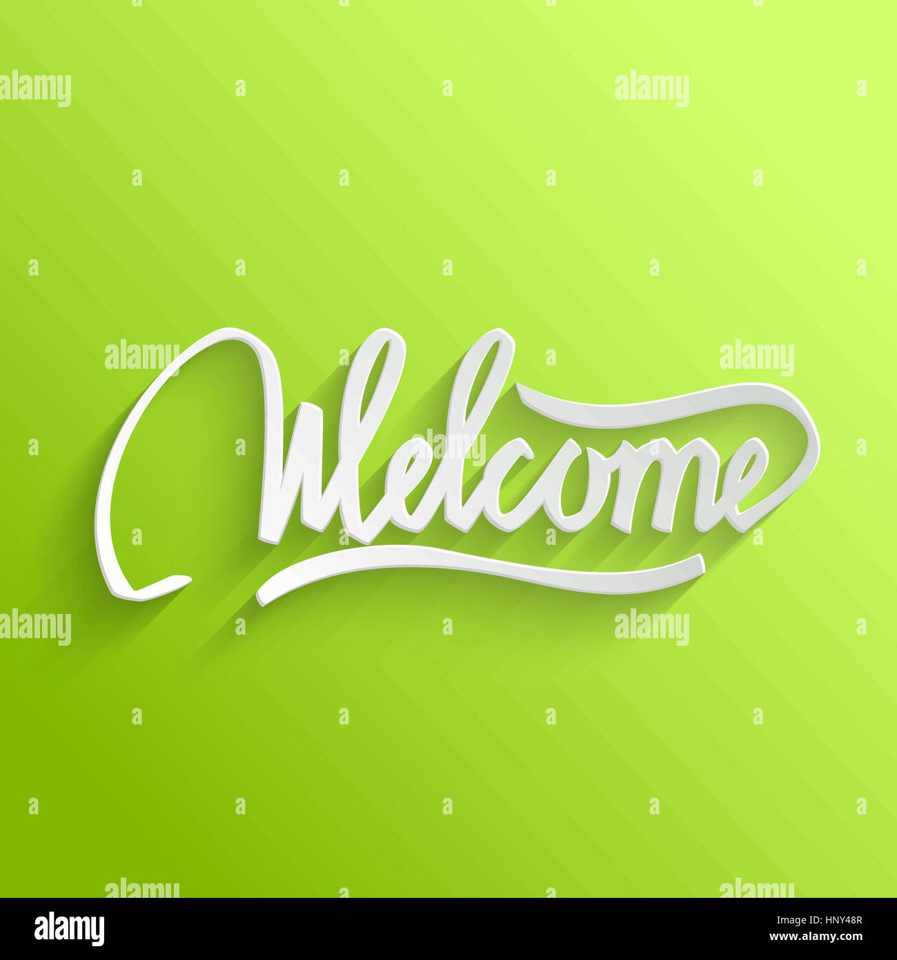 Welcome hand lettering green greeting card typographical vector welcome hand lettering green greeting card typographical vector background handmade calligraphy kristyandbryce Choice Image