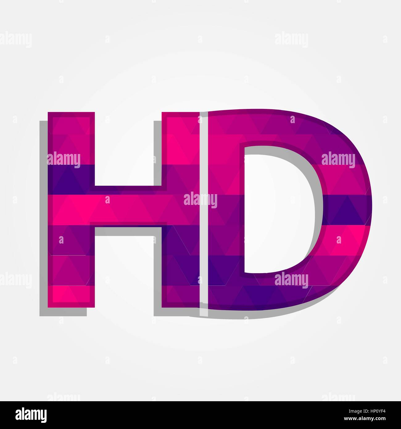 Word hd with a colored triangles forming a gradient purple to word hd with a colored triangles forming a gradient purple to pink buycottarizona Images
