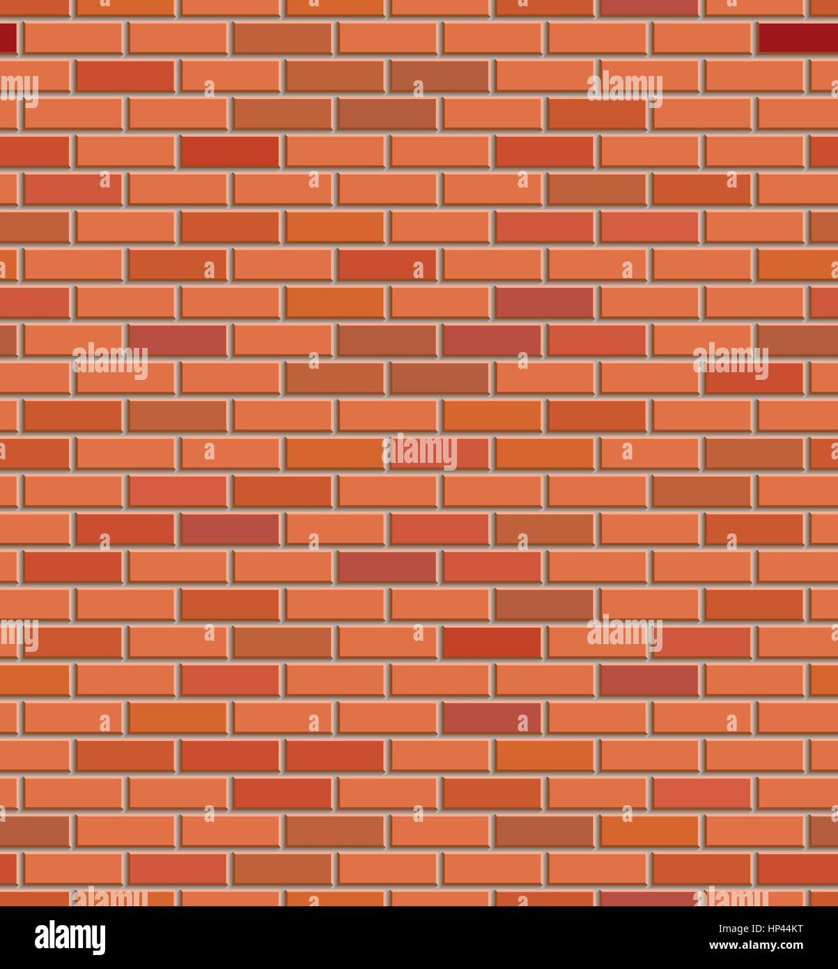 Vector Red Brick Wall Texture Seamless Pattern Abstract Background