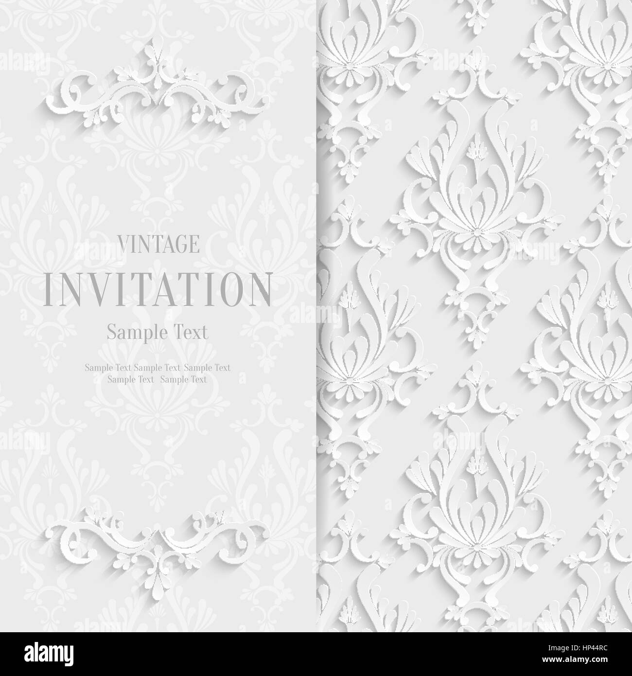 Vector white floral 3d christmas and invitation background vector white floral 3d christmas and invitation background template stopboris Images