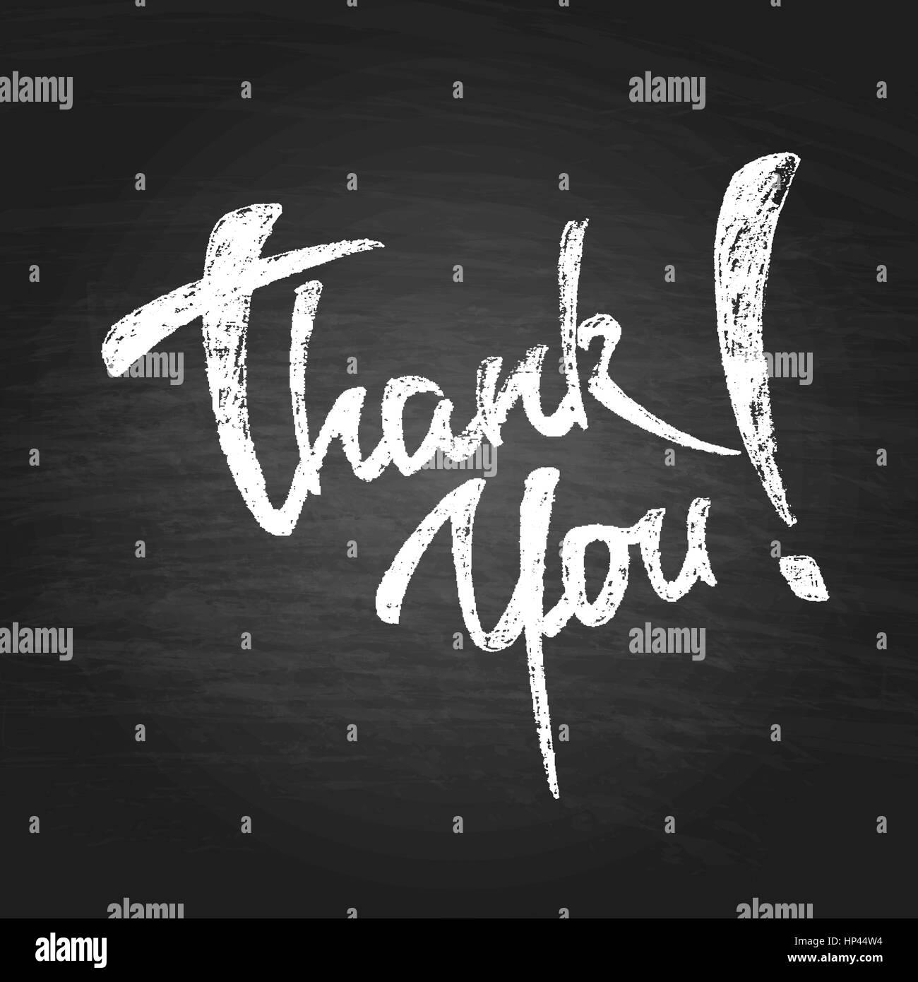 Thank You Chalk Hand Drawing Greeting Card. Vector Background Stock ...
