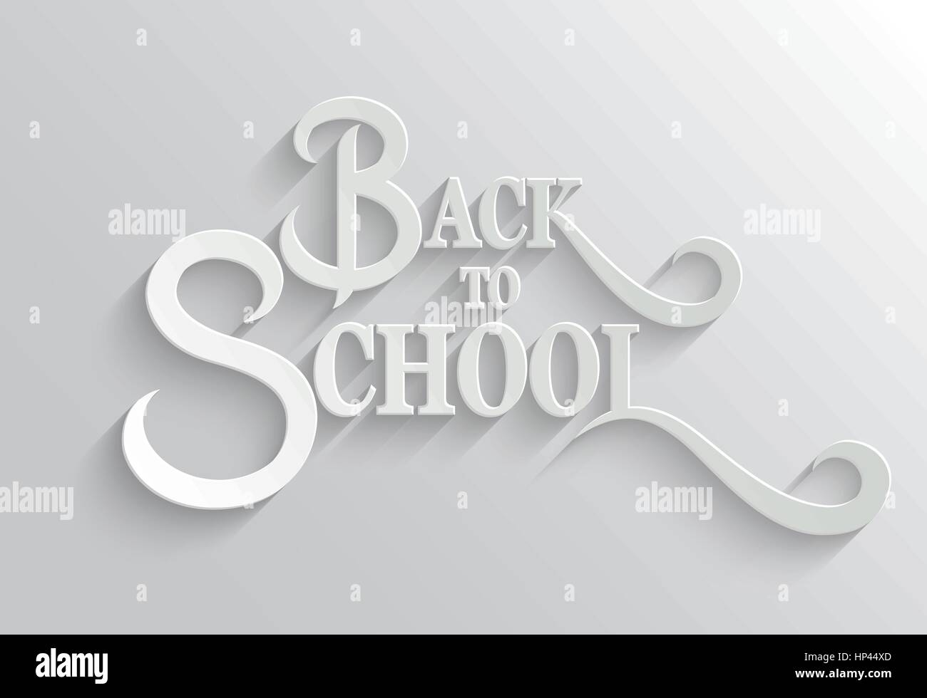 Back to School Hand lettering Greeting Card. Typographical Vector ...