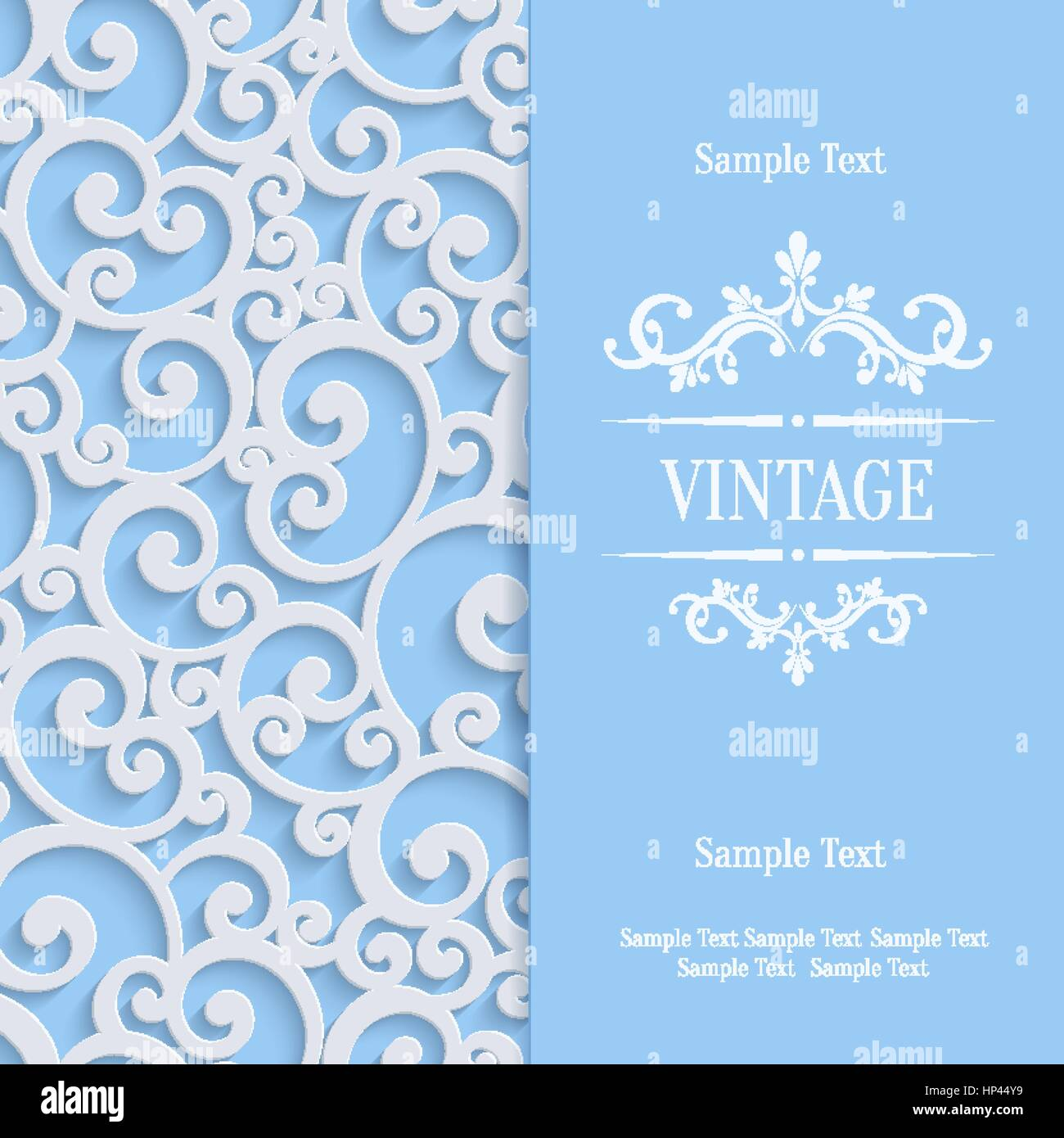Floral swirl background with 3d curl damask pattern for wedding or floral swirl background with 3d curl damask pattern for wedding or invitation card vector blue vintage design stopboris Choice Image