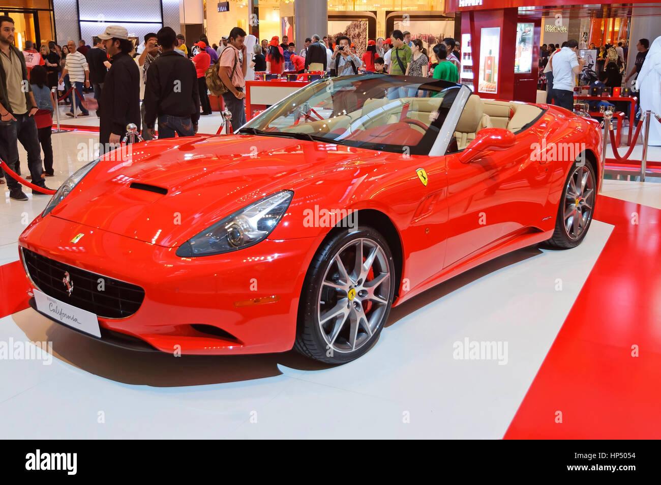 Dubai Uae January View Of A Ferrari California