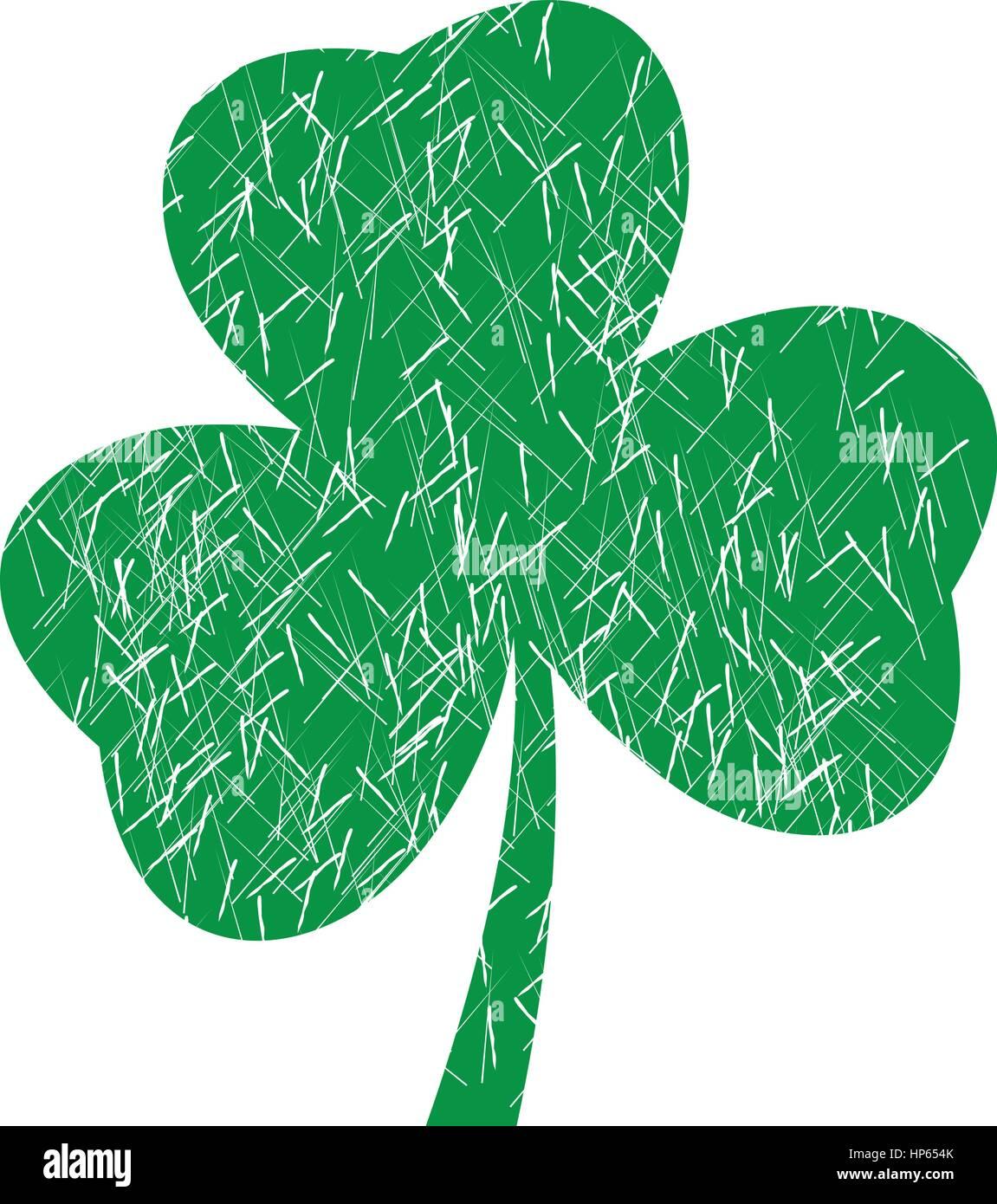 Vector illustration of a grunge shamrock for st patrick day irish vector illustration of a grunge shamrock for st patrick day irish symbol biocorpaavc Gallery
