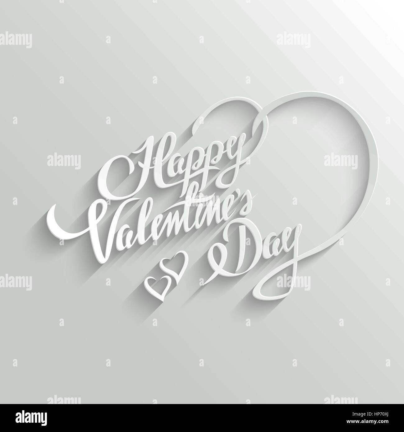 Happy Valentines Day Hand lettering Greeting Card. Typographical ...