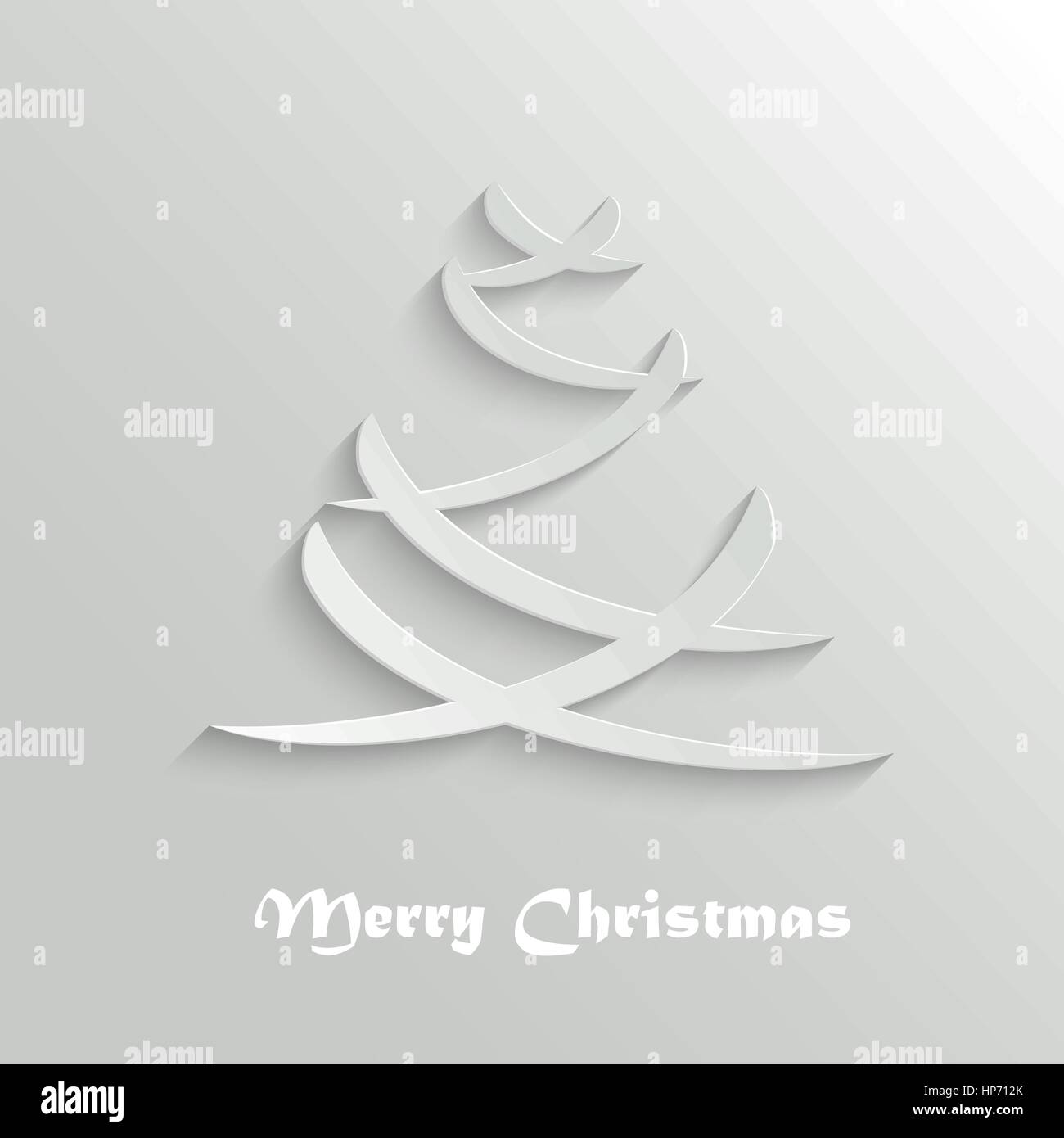 Abstract Modern Christmas Tree Background, Greeting Card Design ...