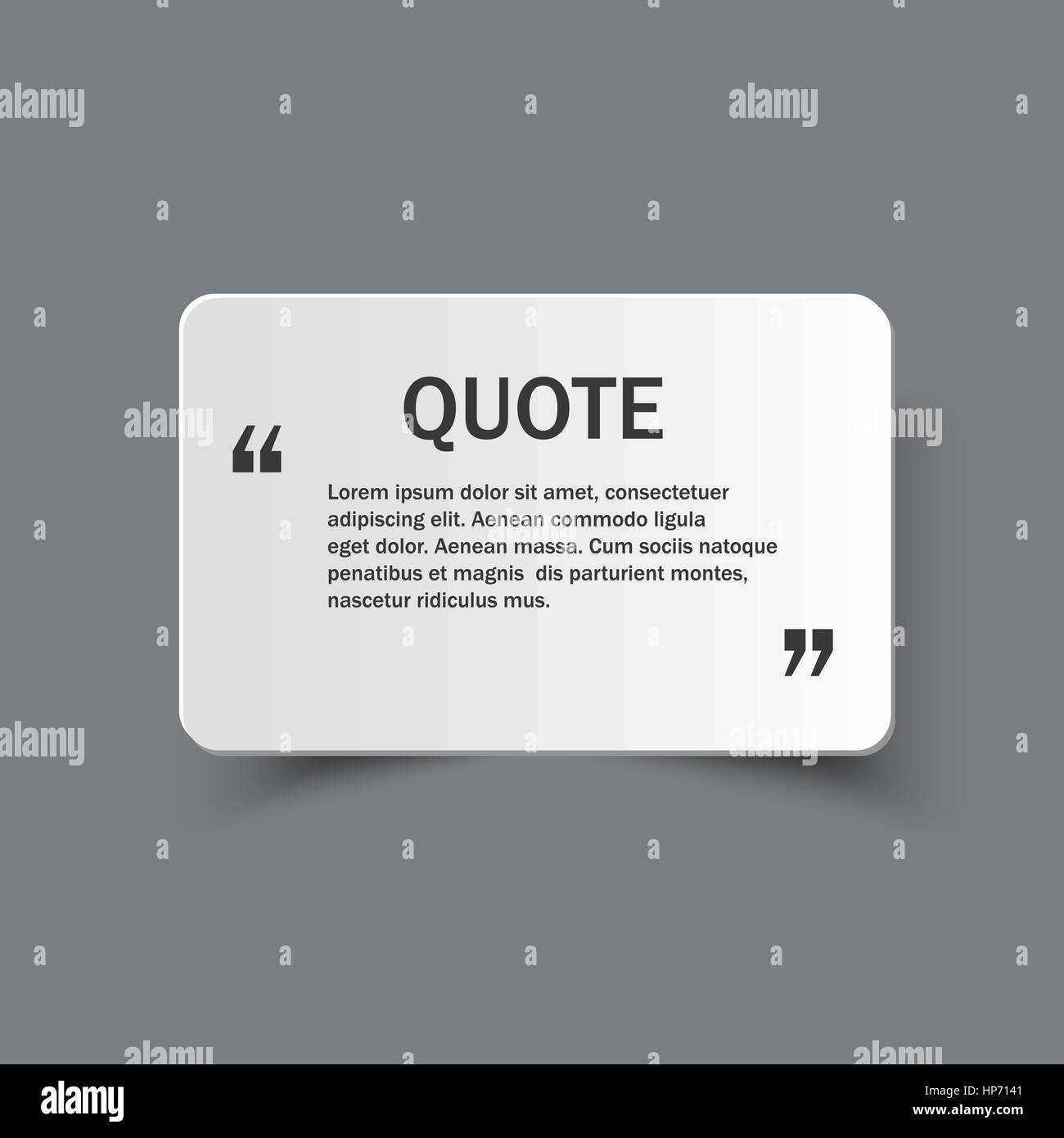 Quote form on paper banner with shadow, vector design template Stock ...