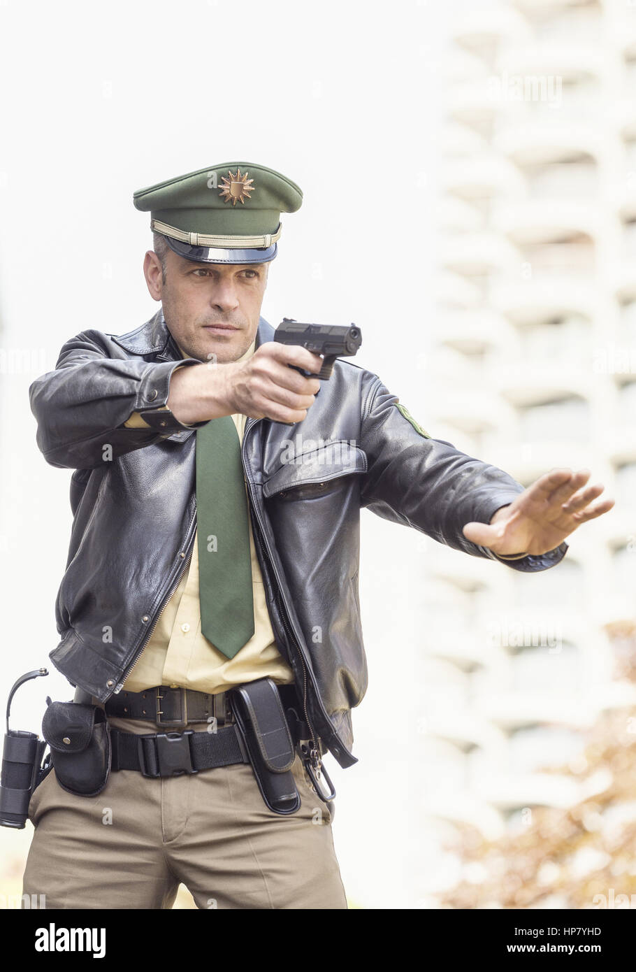 Deutscher Polizist Model Released Stock Photo Royalty