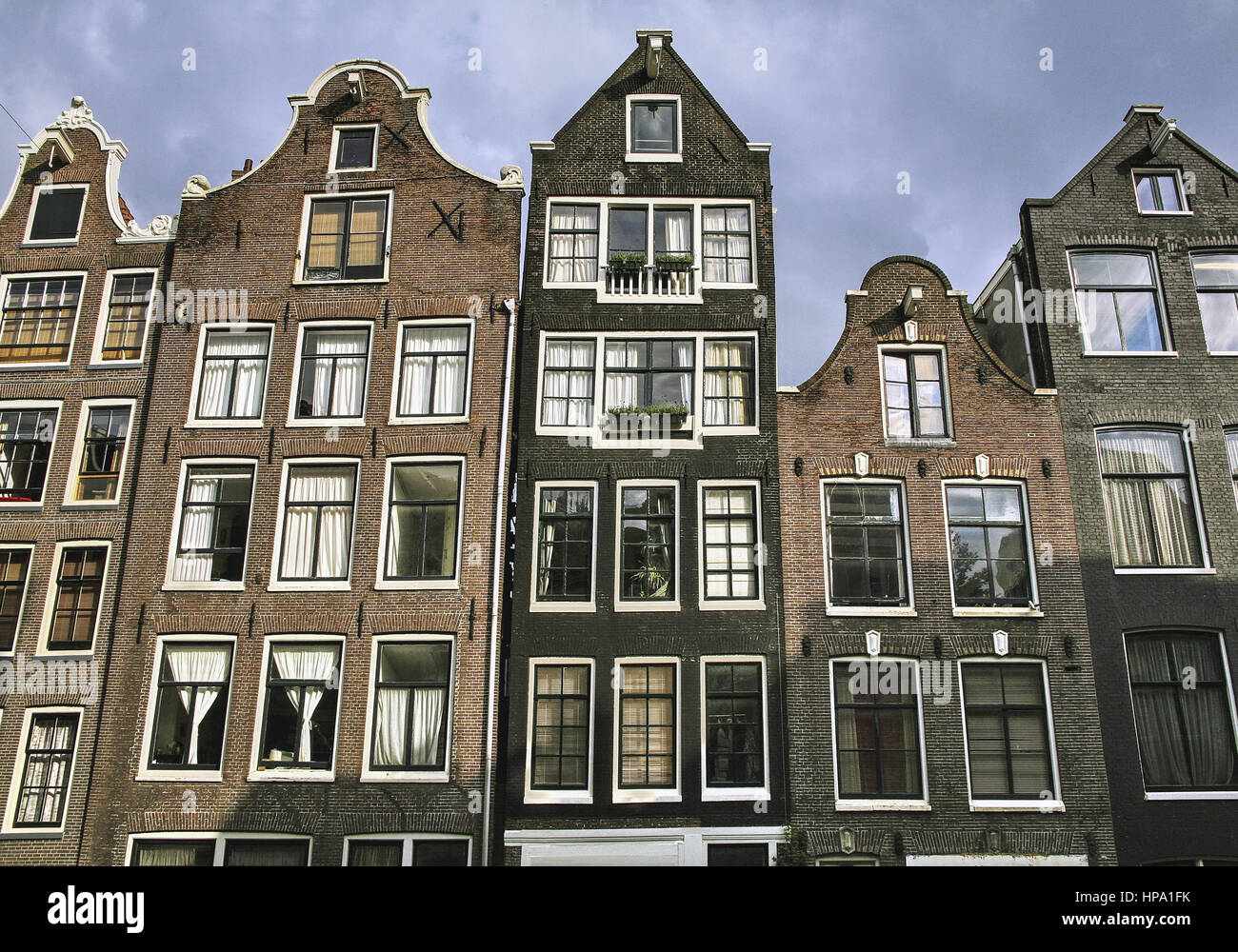 Haus Fassaden amsterdam alte hausfassaden niederlande stock photo royalty free