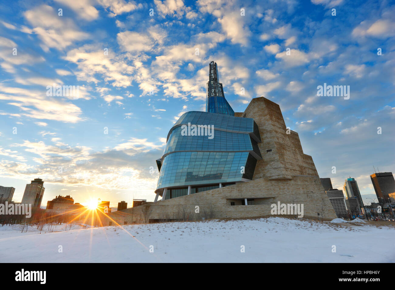 canadian museum for human rights in winnipeg stock photo royalty