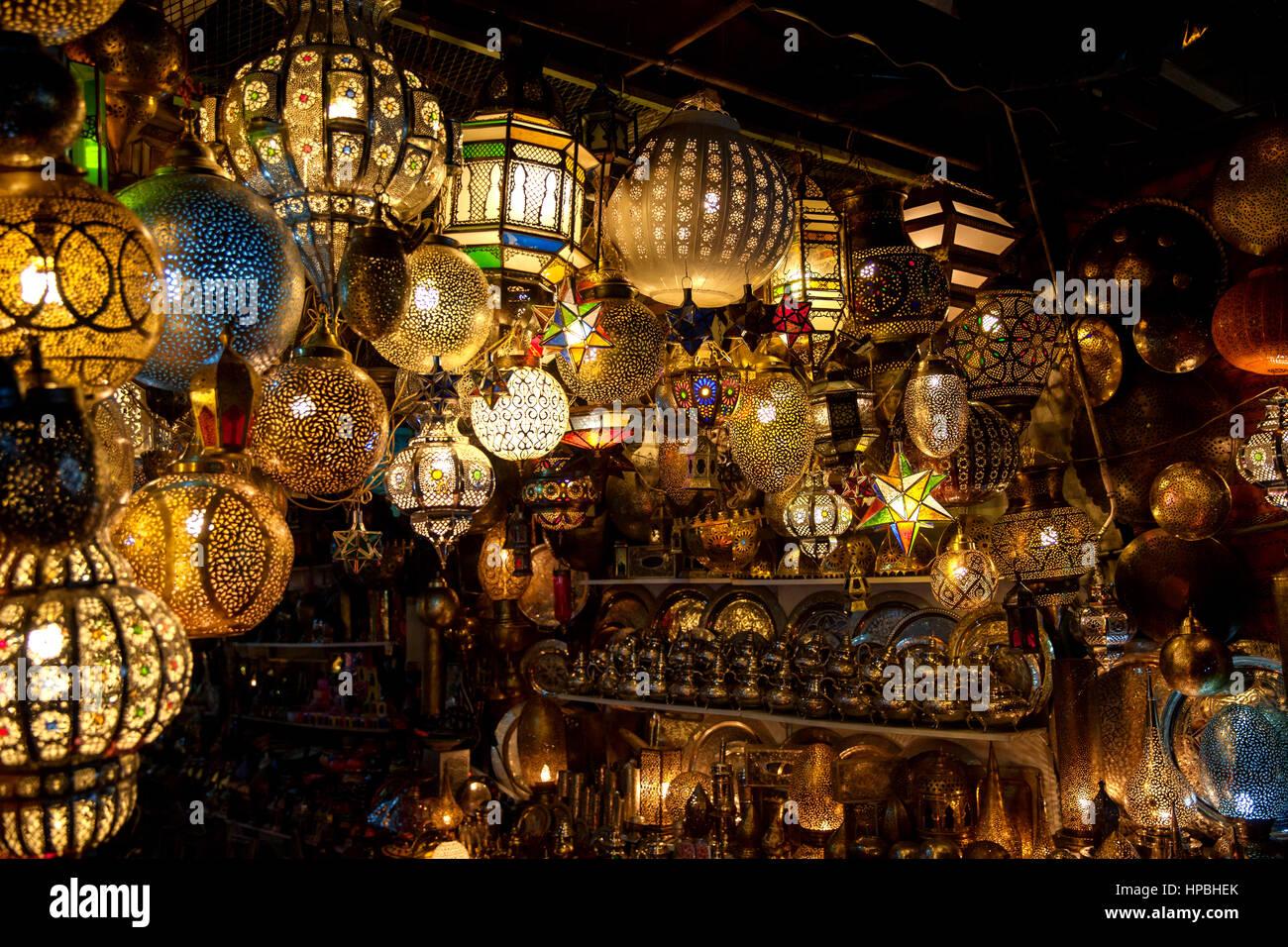 Traditional Arabic lanterns. hanging mosaic glass lamps Stock ... for Traditional Arabic Lamp  181pct