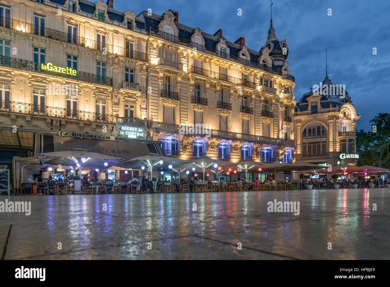 Place de la comedie three graces fountain montpellier - La compagnie des comptoirs montpellier ...