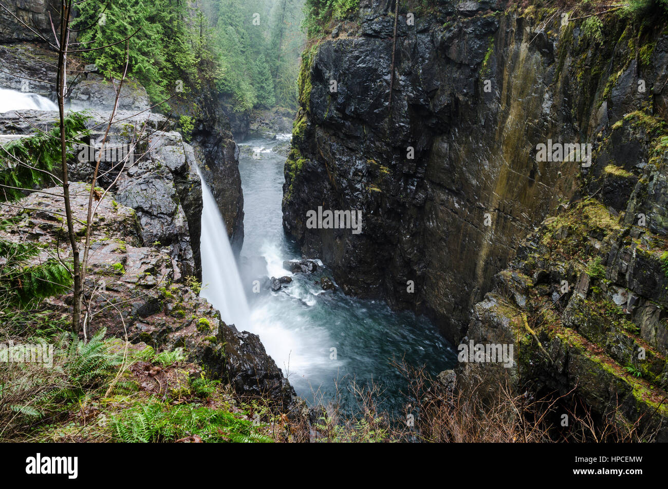 Elk Falls Provincial Park, Near Campbell River, British Columbia, Canada
