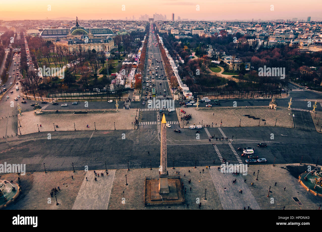 place de la concorde and the champs elysees aerial view at. Black Bedroom Furniture Sets. Home Design Ideas