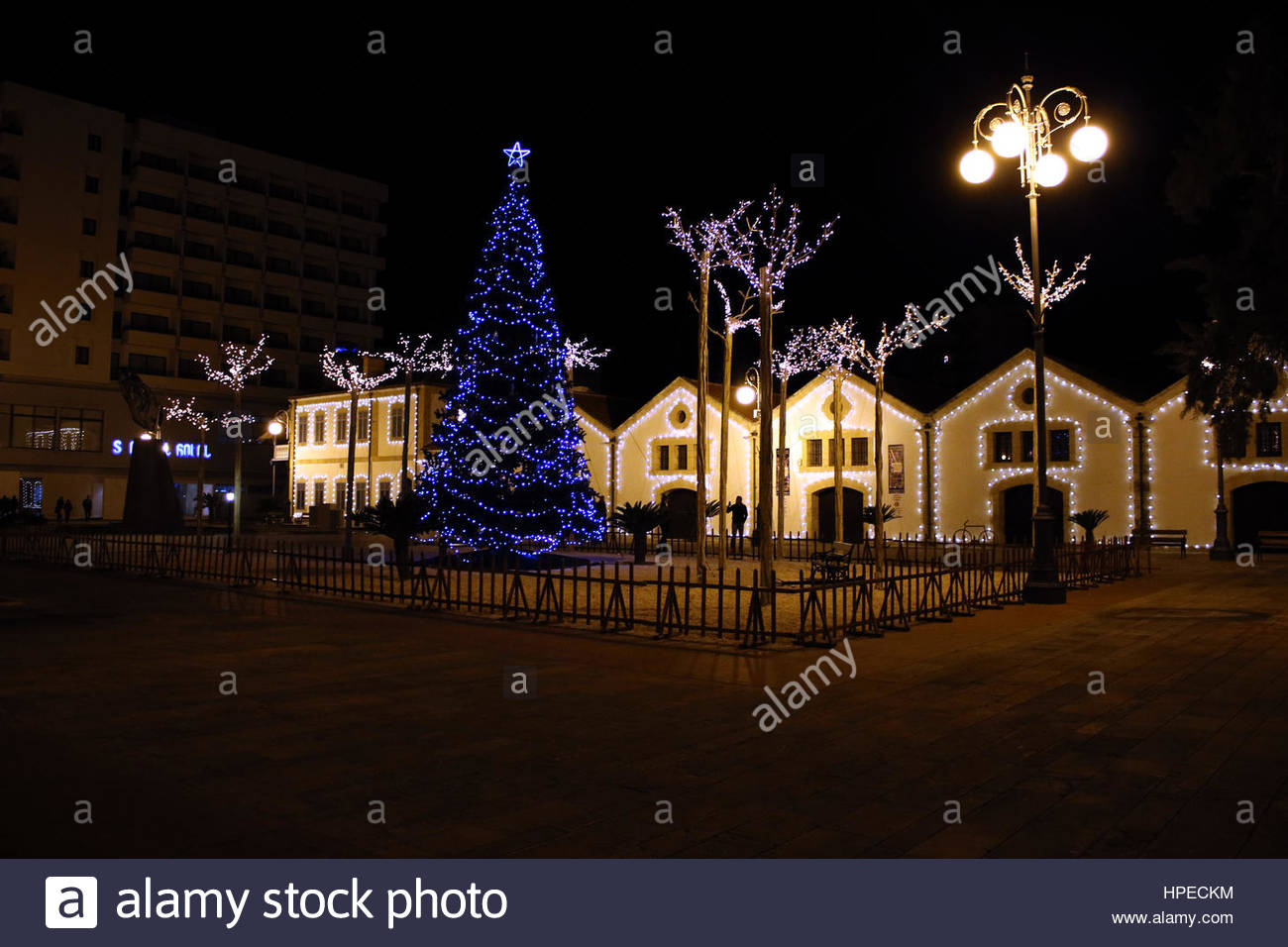 christmas tree at european union square at larnaca cyprus - European Christmas Tree
