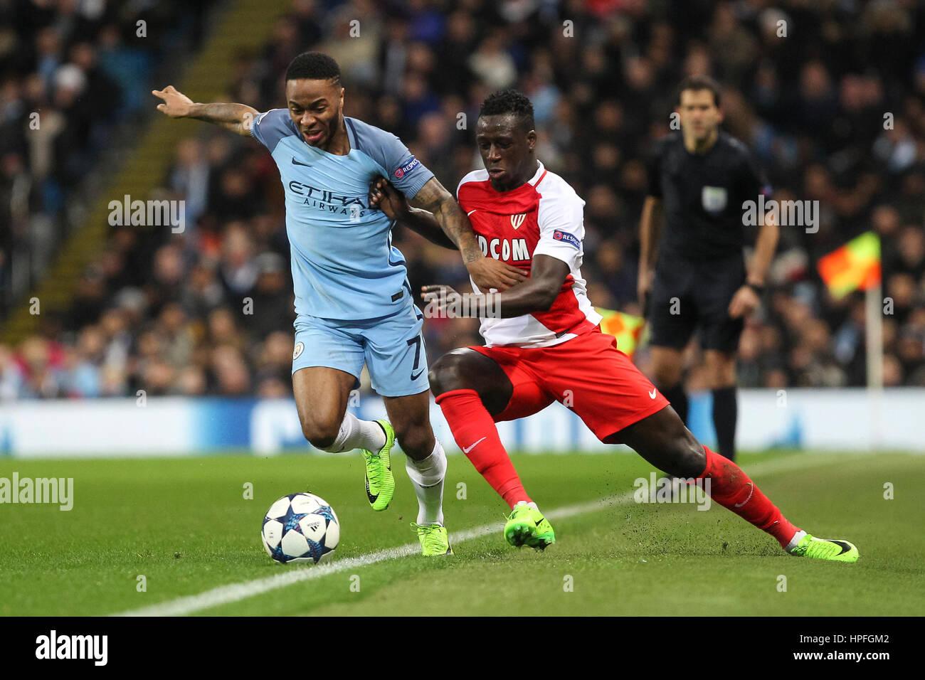 Manchester UK 21st Feb 2017 Raheem Sterling of Manchester City