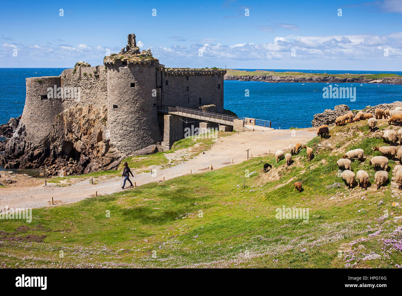 the old castle ile d 39 yeu vendee france stock photo royalty free image 134347208 alamy. Black Bedroom Furniture Sets. Home Design Ideas