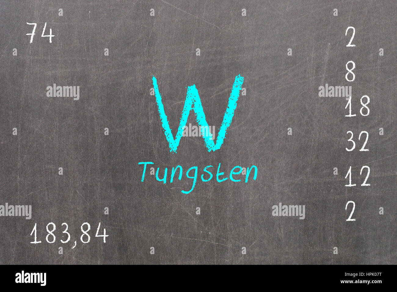 Isolated blackboard with periodic table tungsten chemistry stock isolated blackboard with periodic table tungsten chemistry urtaz Choice Image