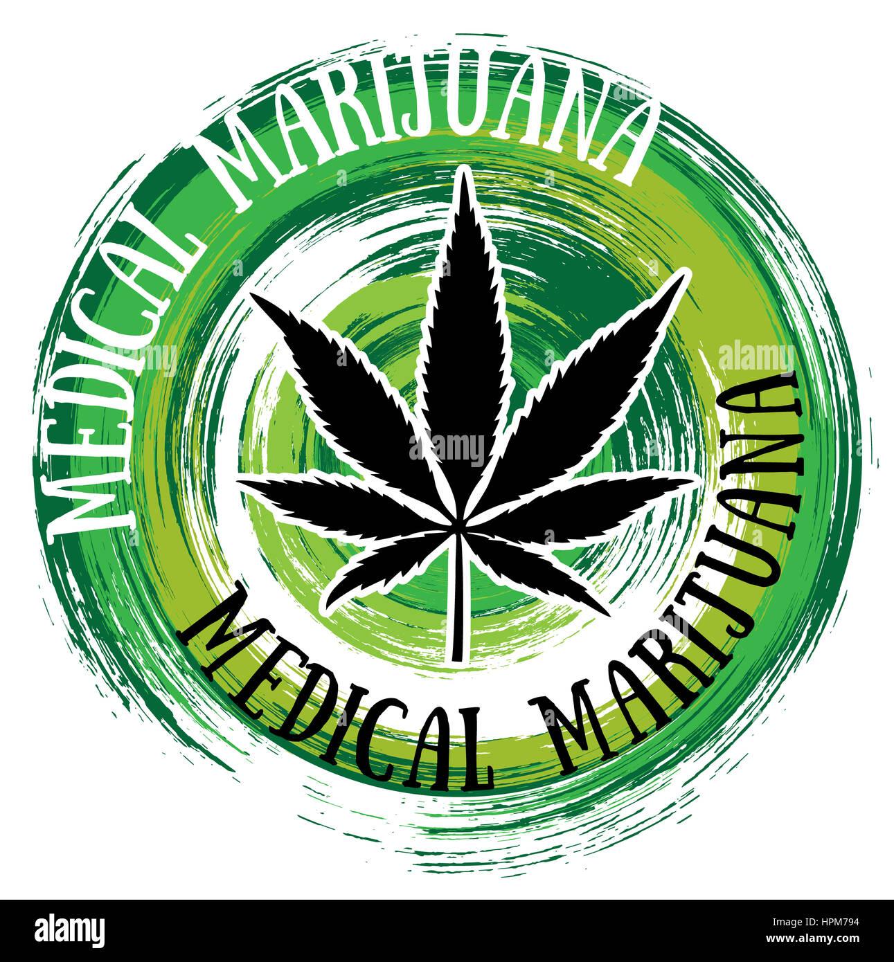 Medical marijuana leaf symbol green brush texture background stock medical marijuana leaf symbol green brush texture background biocorpaavc