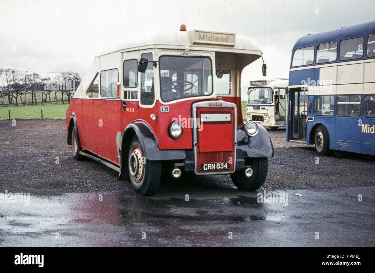 Scotland, UK - 1973: Vintage vehicle image. Midland tow wagon ...