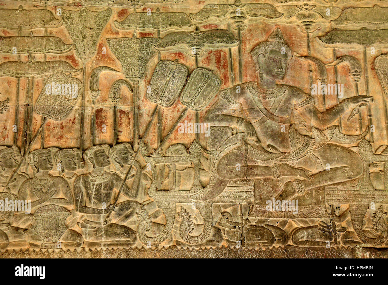 Cambodia angkor wat bas relief army of