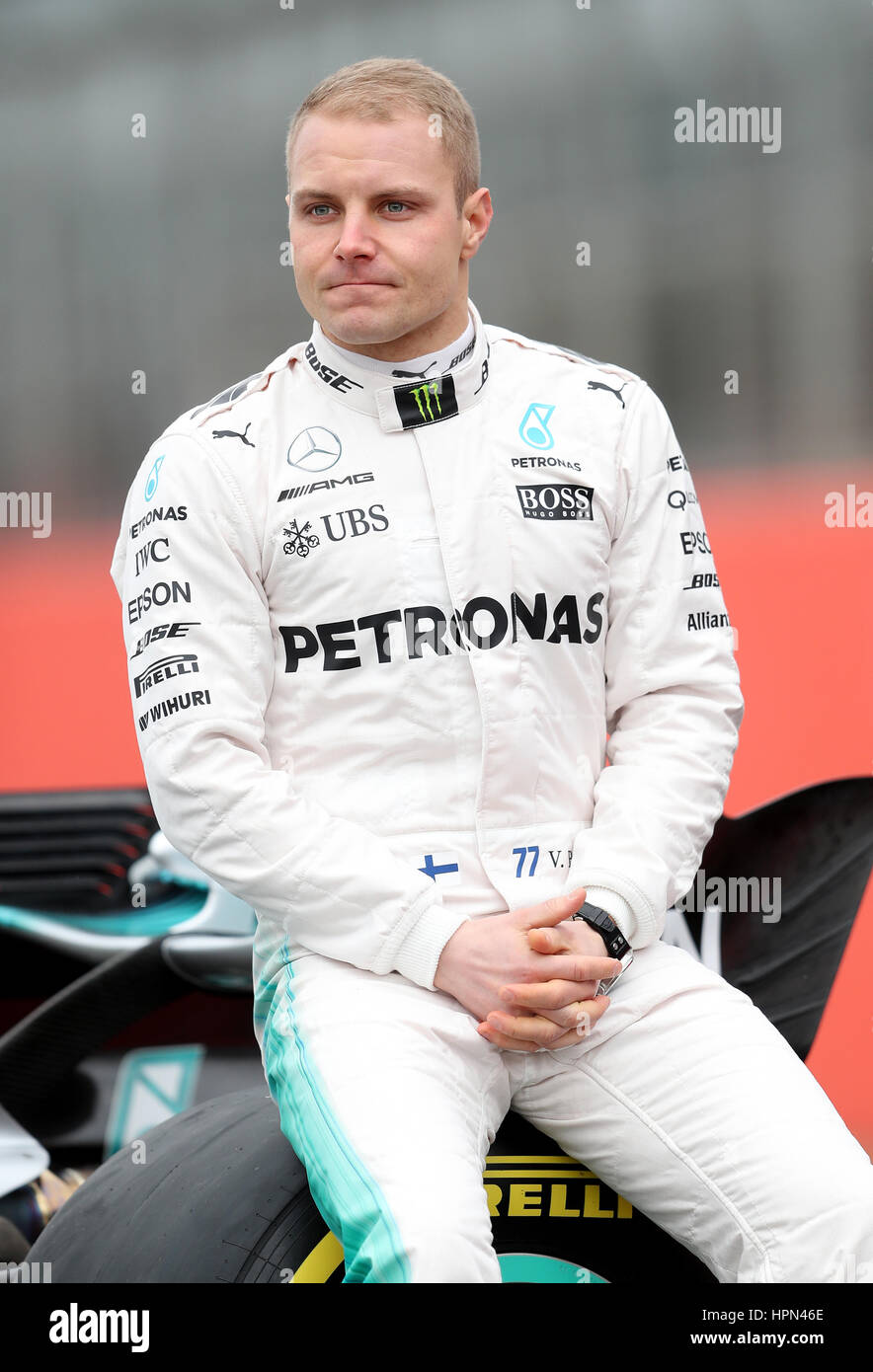 Valtteri Bottas during the Mercedes-AMG 2017 Car Launch at Stock Photo, Royalty Free Image ...