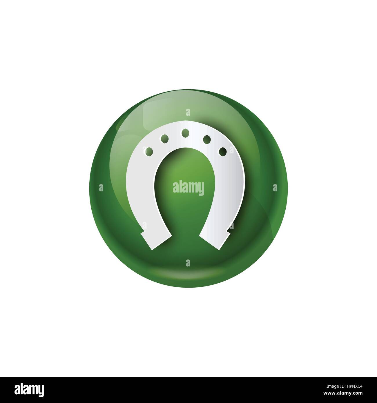 Green horseshoe icon good luck symbol stock vector art green horseshoe icon good luck symbol biocorpaavc Choice Image