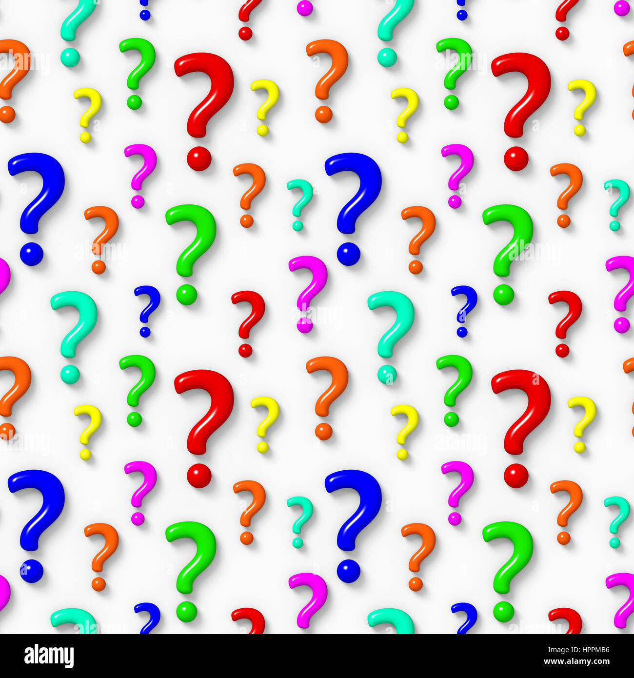 3d Dashboard Seamless 3d Background With Colourful Question Marks Stock