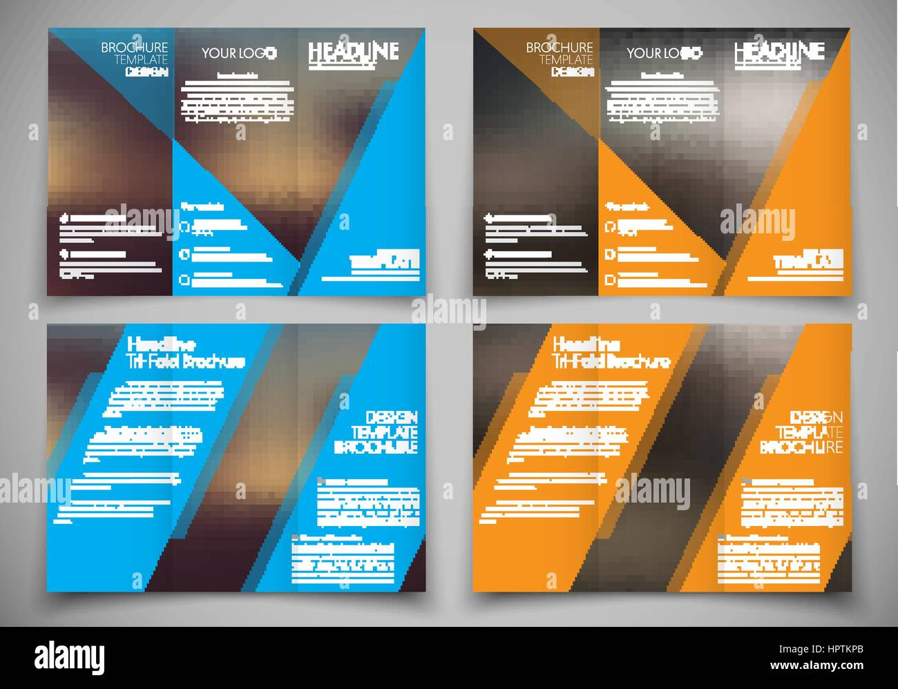 Template Triple Folding Brochure Printing And Advertising Flyer - Hp brochure templates