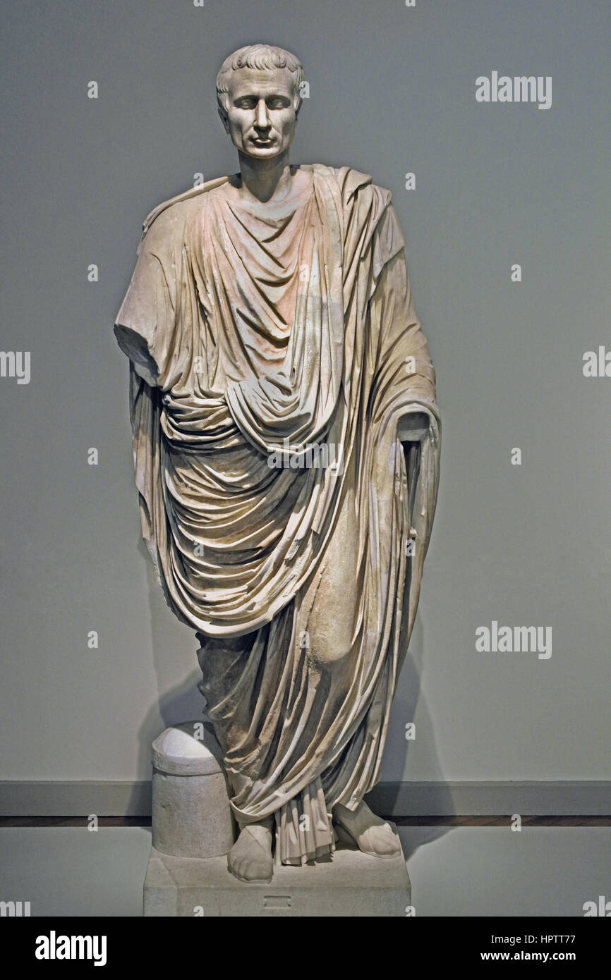 toga statue 50 ad rome italy roman stock photo royalty free