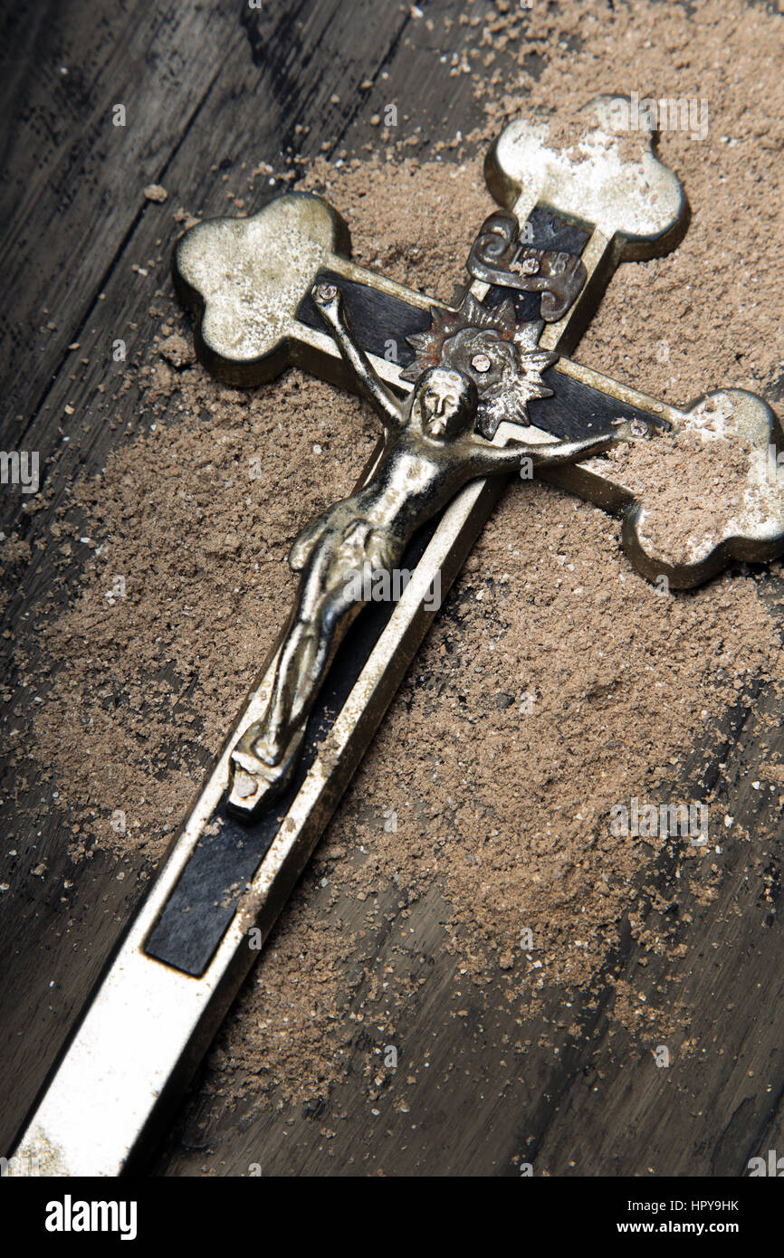 Cross and ash symbols of ash wednesday stock photo 134595263 alamy cross and ash symbols of ash wednesday buycottarizona Image collections