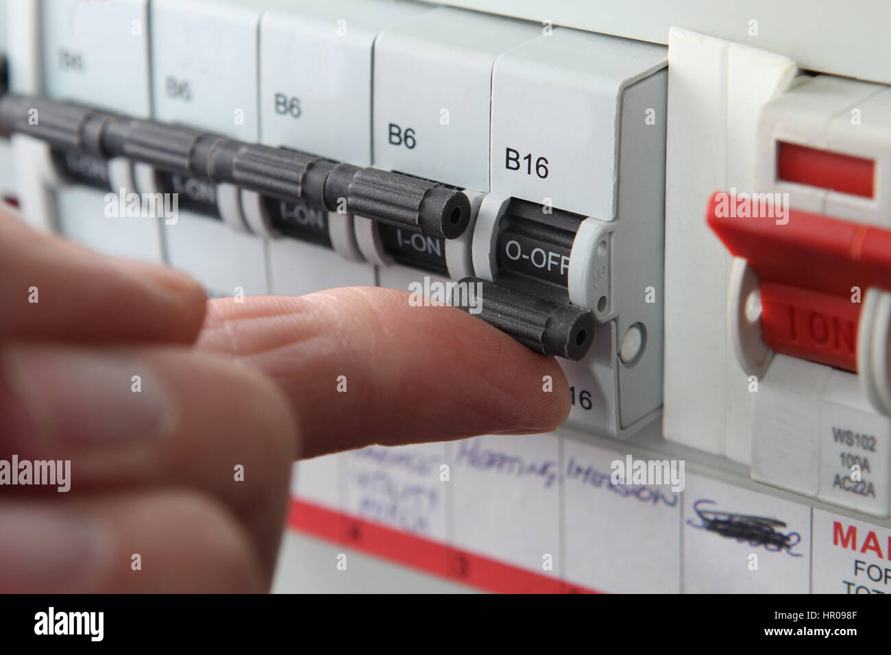 consumer unit box electrical fuse box old wire fuse type in a old style consumer unit electrical wire fuse box acircmiddot switching an mcb micro circuit breaker on a uk domestic electrical consumer unit or