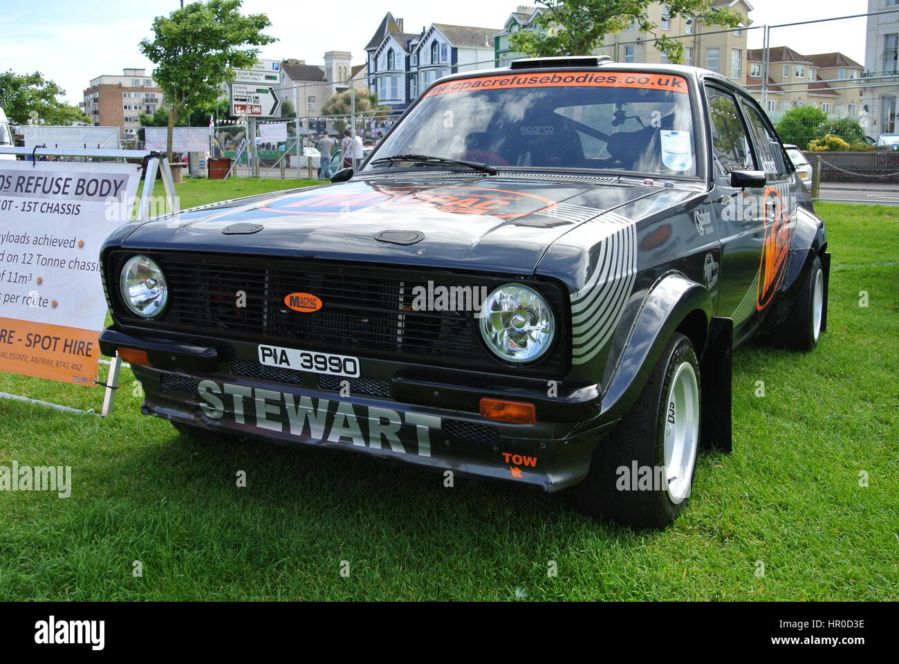 Ford Escort MK2 rally car parked up on display Stock Photo ...