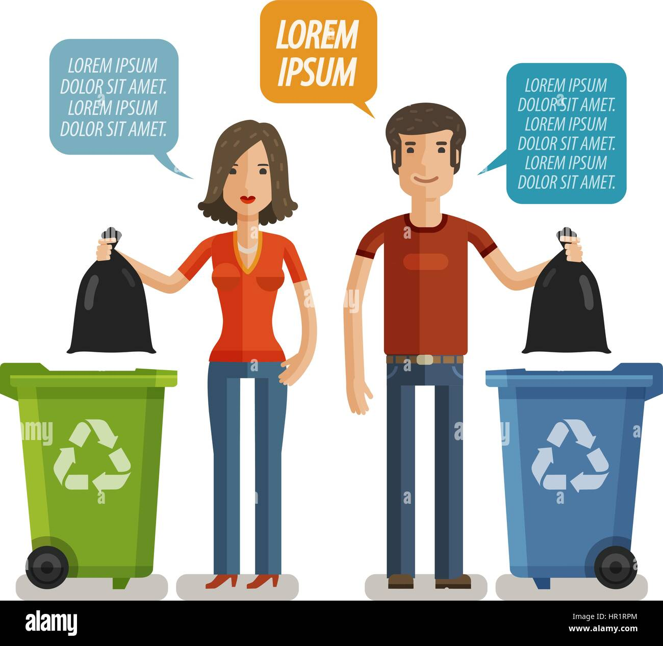 Garbage can, waste bin, trash container, dumpster infographic ...