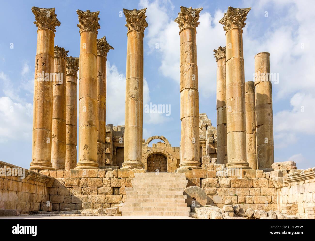 ancient roman city of gerasa modern jerash jordan artemis temple