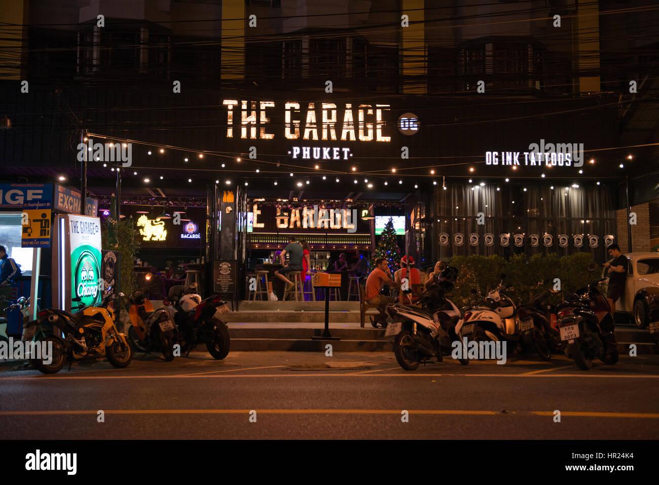 Garage Bar Mobile : Garage bar sign at night in karon beach phuket thailand