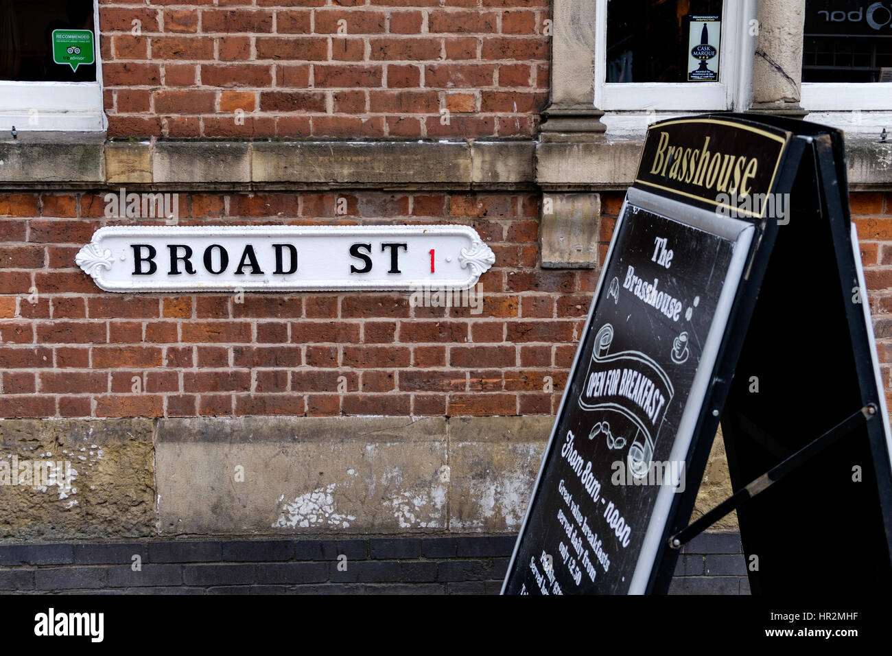 Driving Map Of France With Distances%0A A old fashioned street sign on Broad Street Birmingham  Stock Image