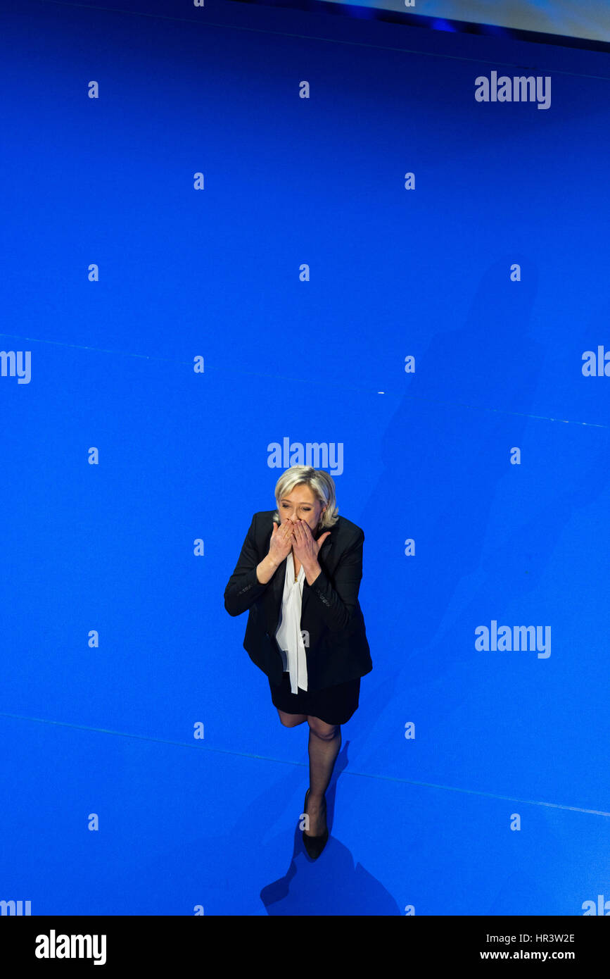 France elections 2017 live - 26th February 2017 Meeting Of Marine Le Pen Far Right Candidate Front National For The 2017 French Presidential Election Credit Andia Alamy Live News