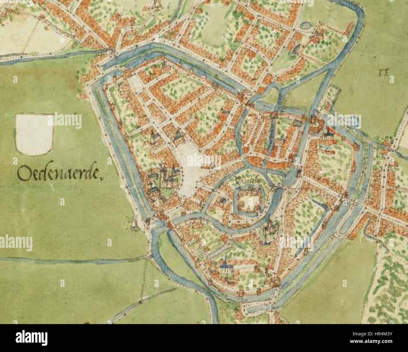 Oudenaarde Belgium Deventer map Stock Photo Royalty Free Image