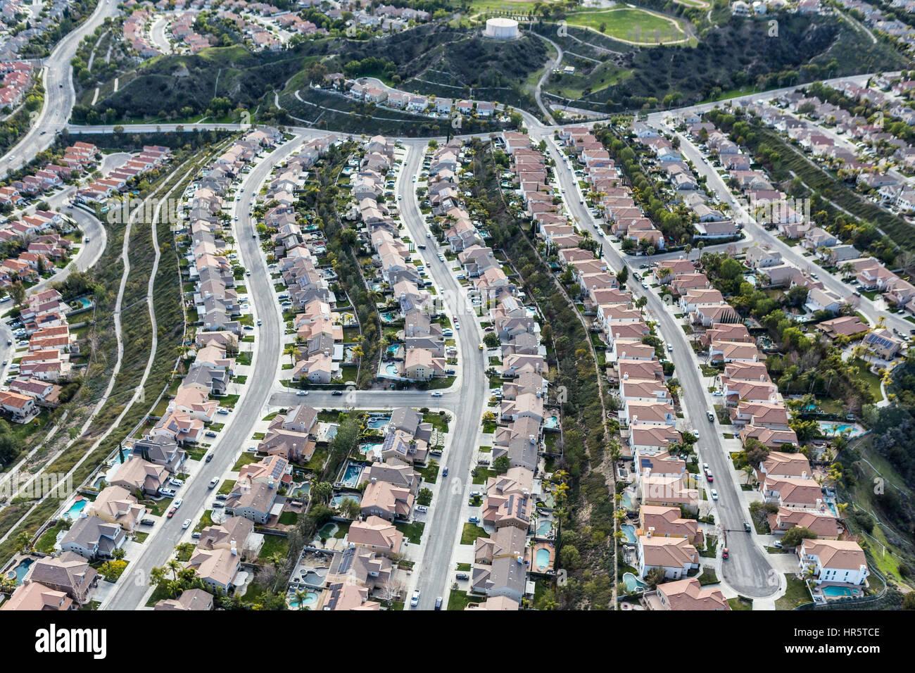 Aerial View Of Suburban Stevenson Ranch Bedroom Community