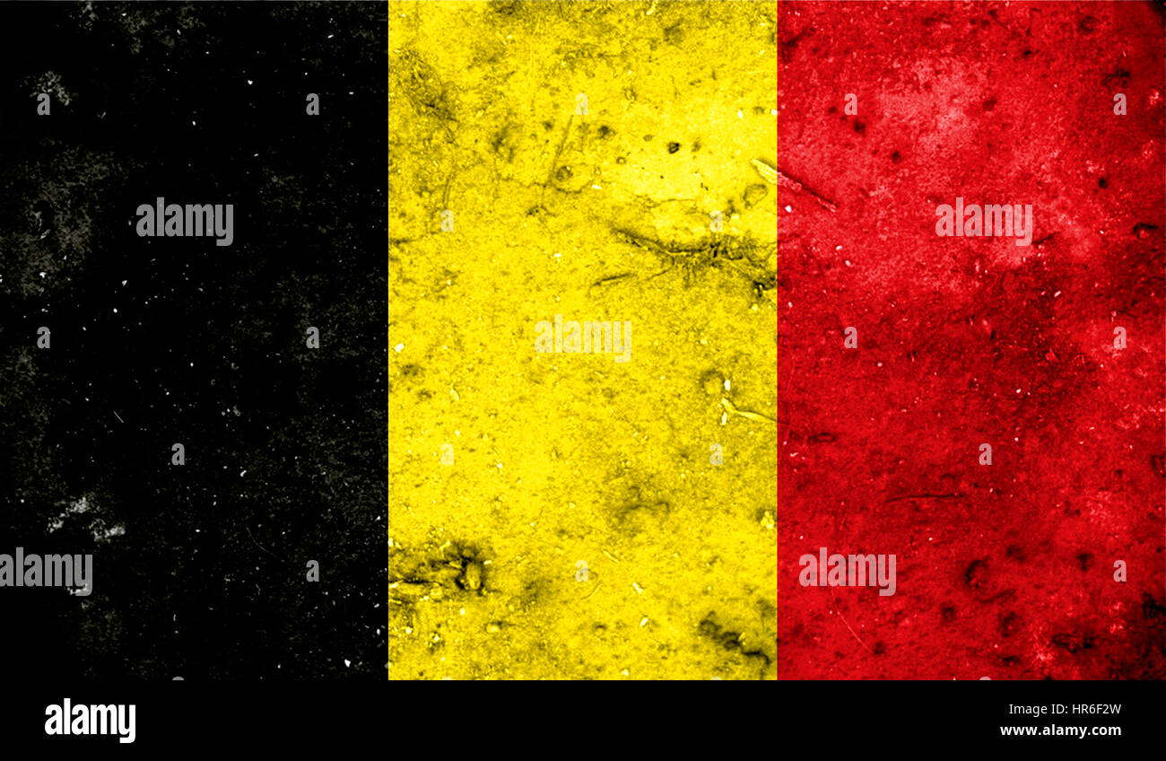 Belgium flag on old background retro effect, close up Stock Photo ...
