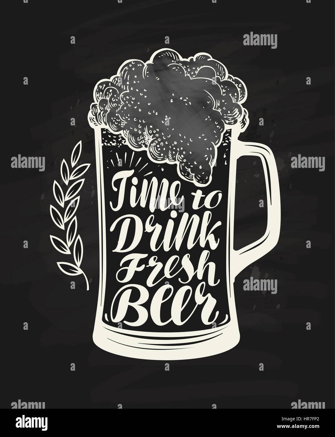 Chalkboard Beer Glass